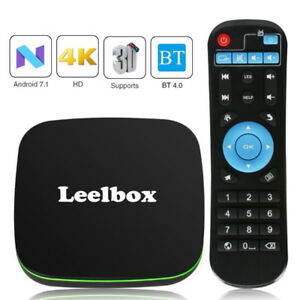 Android TV Box, Android 7.1 Box with BT 4.0 Supporting 4K (60Hz)