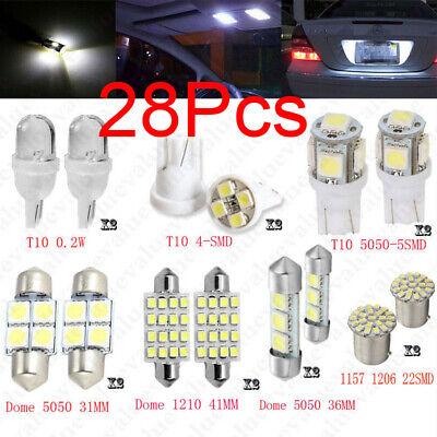 28Pcs Auto Car Interior LED Light Dome License Plate Mixed Lamp Set Parts US HOT