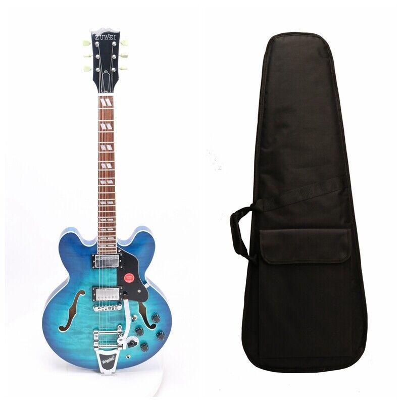 ES-335 Semi Hollow Body Electric Guitar Quilt Maple Top Veneer Bigsby Bridge