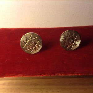 Vintage Gilt Mens Cufflinks