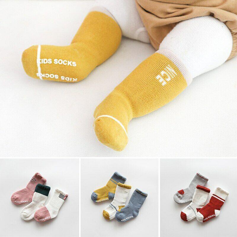 Baby Toddler Kids Antiskid Socks Non Anti Slip 5 Pairs Cotton Sock for Girls Boys Cartoon Bear