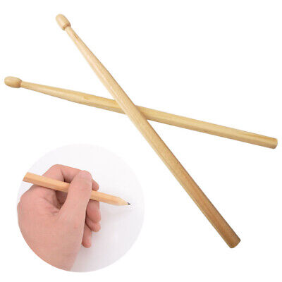 2pcs Wooden Drumstick Pen Pencils For Hb Writing Safe Non-toxic Drum Stick Gift