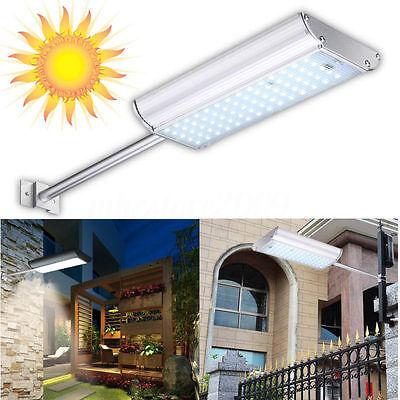 NEW Solar 70 LED Motion Sensor Light Outdoor Garden Path Street Wall Lamp Waterp