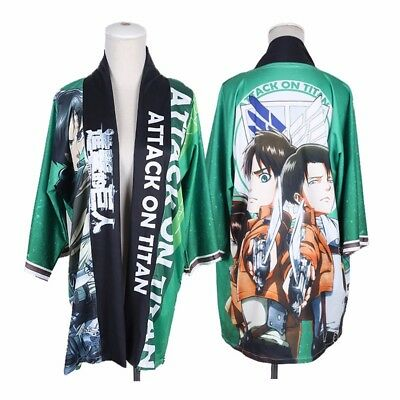 Anime Kimono Attack on Titan Cosplay Costume Yukata Unisex Outerwear Haori Coat