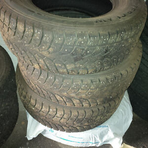 Set of 4 Winter Claw Extreme Grip Studded Light Truck Tires Prince George British Columbia image 1