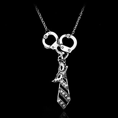 Fifty Shades of Grey, Darker, Freed, necklace with tie, mask and cuffs pendant