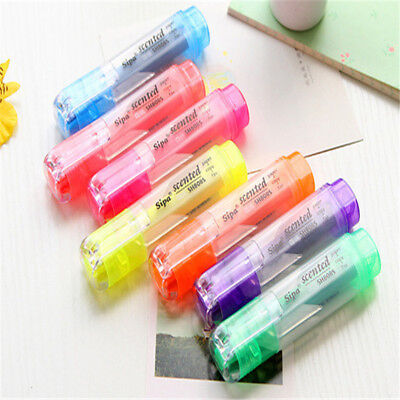 7pcs Highlighter Marker Stationery Multicolor Candy Color Fluorescent Marker Pen