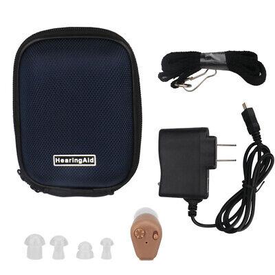 Mini audífono Invisible recargable, amplificador sonido audifono auditivo sordos