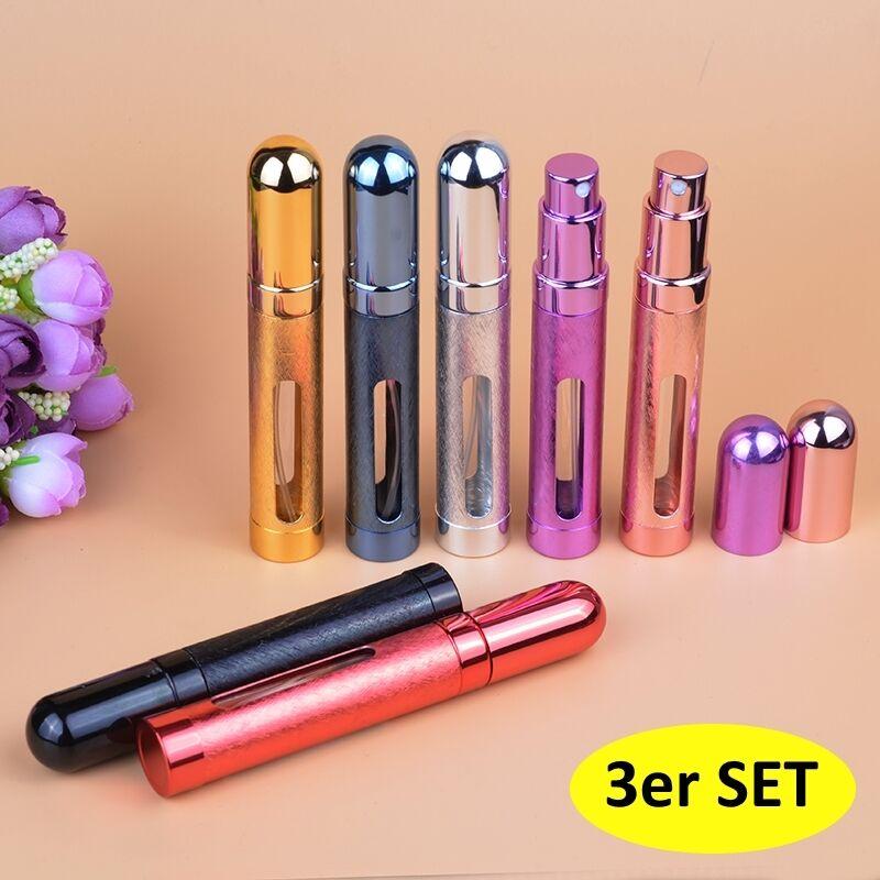 3 schöne je 12 ml nachfüllbarer Parfümzerstäuber für Reise und Unterwegs