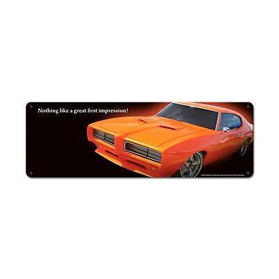 PONTIAC GTO JUDGE IMP  Metall Schild 61cm schwer FOTOPRINT GM metal sign muscle