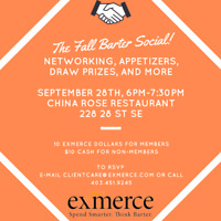 eXmerce Fall Barter Social - NETWORKING EVENT