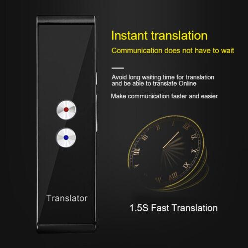 Language Translator Device,Portable Smart Two-Way Real Time Multi-Language-Black