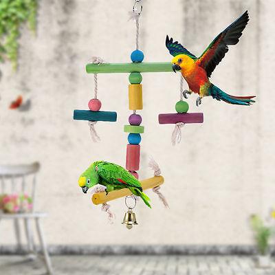 Pet Bird Bites Parrot Chew Toy Hanging Cockatiel Parakeet Swing Cage Pet Toys