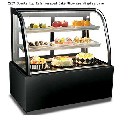 Brand New 220v Countertop Refrigerated Cake Showcase Display Case With Moisture