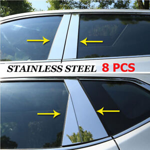 For Nissan Rogue x-Trail 2014-2018 Chrome Window Pillar Post Cover Trim Molding