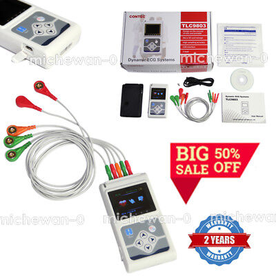 Ecgekg Holter System 3 Channel 24 Hours Recorder Monitor Ussoftware