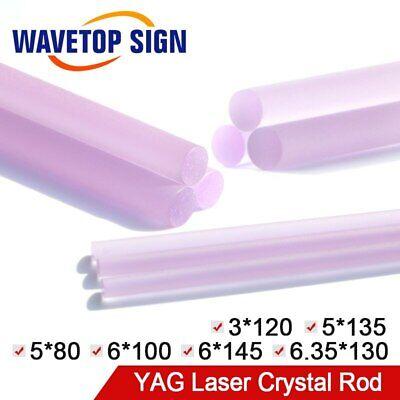 Yag Laser Crystal Rod Size Dia.3-6.35mm Length 80-145mm For Laser Cutter Machine