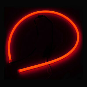 2X-60cm-Flexible-Car-Tube-Guide-LED-Strip-Lamp-DRL-Daytime-Running-Light-Red-Hot