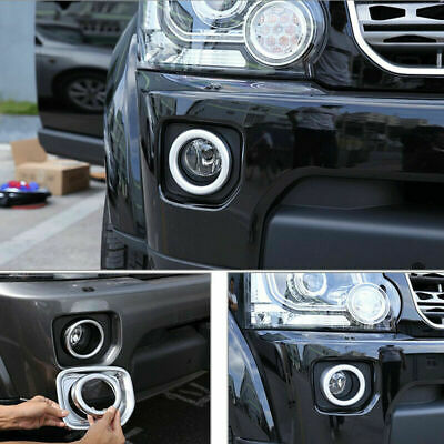 Front Bumper Fog Lamp Cover Bezels Trim Ring Fit For Land Rover freelander Left