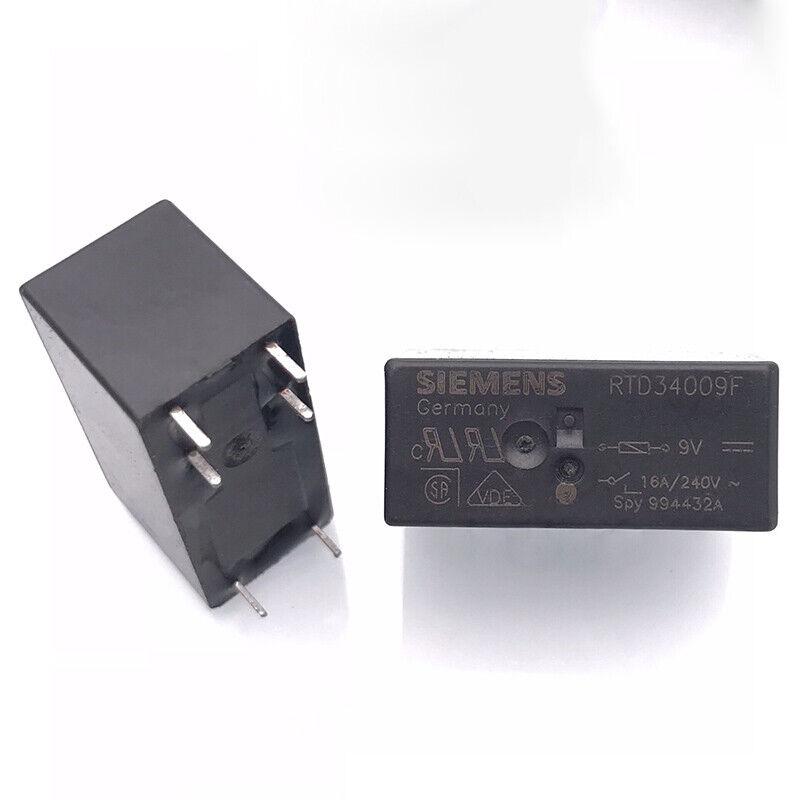 5PCS SIEMENS RTD34009F Power Relay 9VDC 6Pin 16A 240V