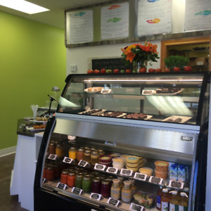 Commercial Starbucks Style Grab and Go Fridge w/ pastry display