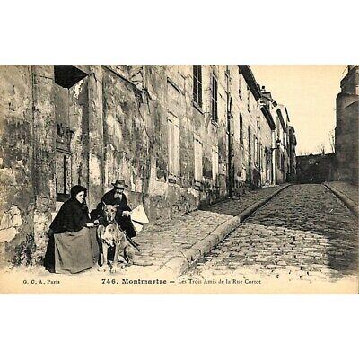 [75] Paris - Montmartre. Les Trois Amis de la Rue Cortot.