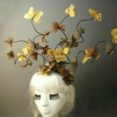 Women's Creative Yellow Flower Leaves Headdress Halloween Carnival Costume Stage](Creative Halloween Costume)