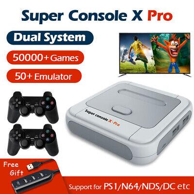 Super Console X PRO 256GB 4K WiFi HDMI TV Box Video Game Console For PS1/N64/DC