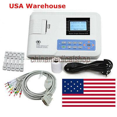 Us Seller Digital Single Channel 12-lead Ecgekg Machine Electrocardiograph Fda