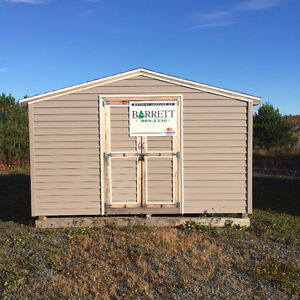 12x8 Gable Shed with Vinyl Siding Assembled