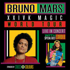 Bruno Mars feat Cardi B - Sept. 23 8pm - Section 107, Row 19