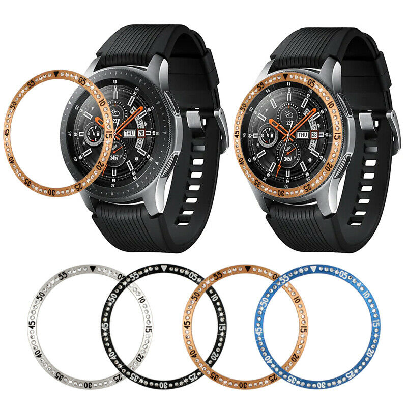 For Samsung Galaxy Watch 4 42/46mm Bezel Ring Diamond Styling Frame Case Cover