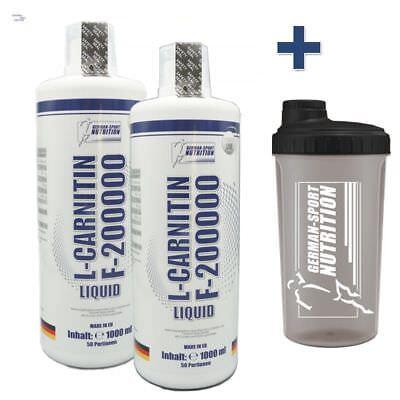 2000ml = 2L L-Carnitin Liquid 200.000 Carnitine flüssiges Diät Fatburner