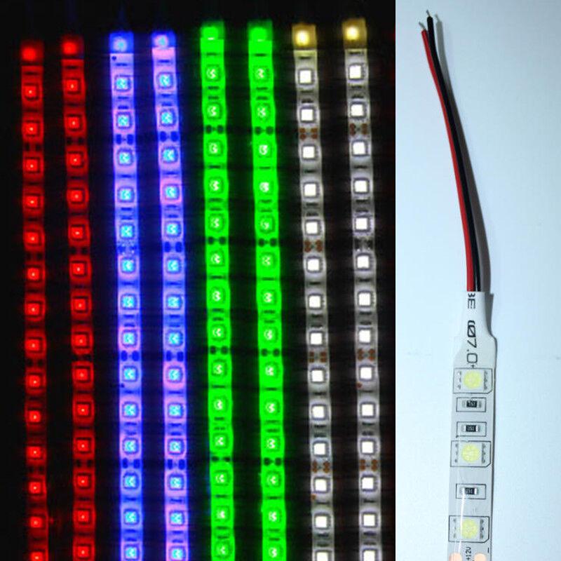 2x Waterproof 1Ft  2Ft  3Ft  4Ft 12V Motor LED Strip Light For Car Motorcycle