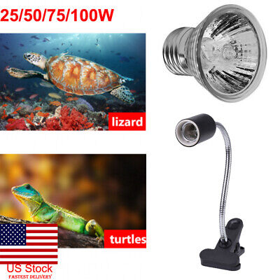 Uva Uvb Bulb (US 25-100W UVA UVB Heat Emitter Lamp Holder Bulb Light Heater Pet Reptile)