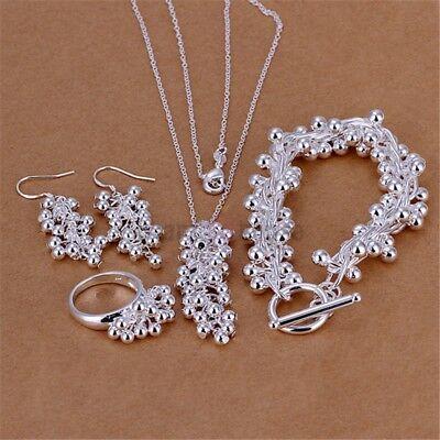Schmuck Set, Halskette mit Anhänger Armband Ring Ohrringe.