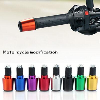 17mm Motorcycle Handle Handlebar Grips Bar End Cap Plugs Slider CNC Aluminum Fab