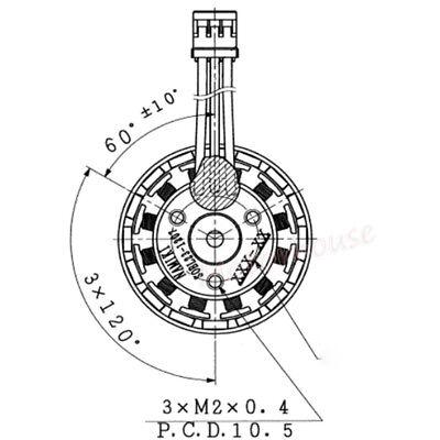 Namiki Dc 5v 12v 3 Phase Brushless Dc Motor Outer Rotor Diy Rc Drone