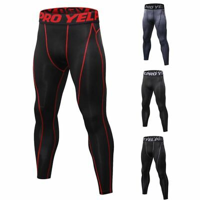 Men Sport Compression Base Layer Pants Quick Dry Sport Runni