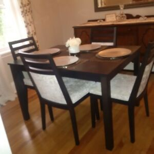 Wood Table Set ( $300) | 2 Bar Stools ($75) | 4 Chairs ($40)