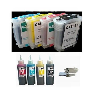 4 Pre-filled Refillable Ink Cartridge Kit For Hp 940 940x...