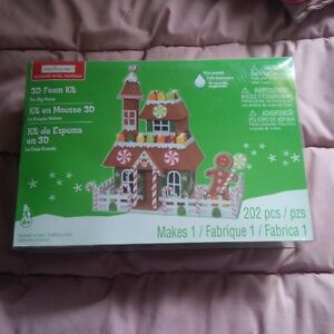 3D foam ginger bread house never opened