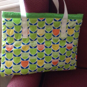 Quilted lined homemade bag