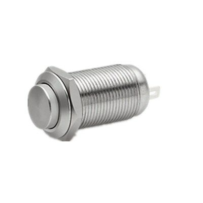 12mm Stainless Steel Latching Push Button Switch Waterproof Spst 1no On-off 250v