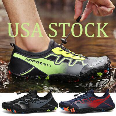 Water Shoes Mens Quick Dry Swim Pool Barefoot Aqua Surf Beach Diving Walk Shoes ()