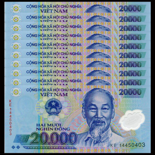200 000 Vietnam Dong ( 20 000 x 10 pcs ) - VND banknotes Uncriculated Condition
