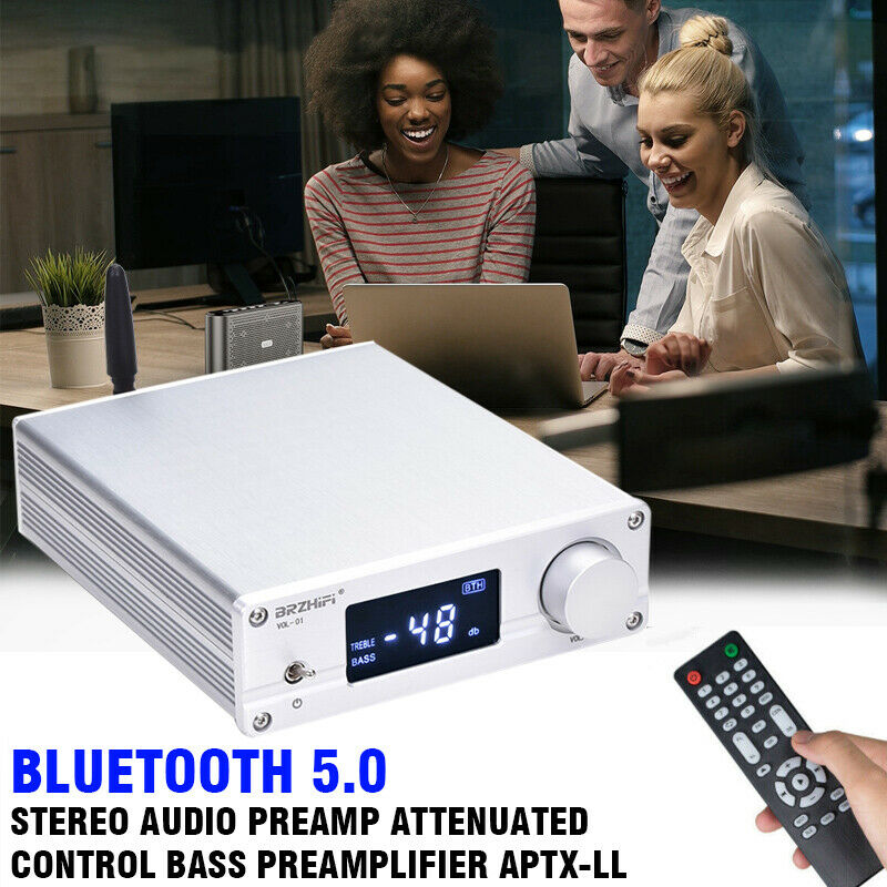 Bluetooth 5.0 Stereo Audio Preamp Attenuated Control Bass Pr