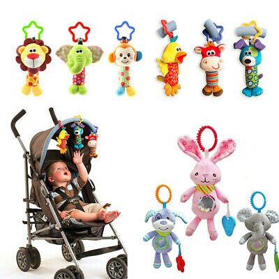 Newborn Baby Bed Stroller Rattle Soft Plush Mobile Toy Kids Ring Bell Crib (Mobile Baby Toy)