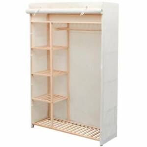 Wardrobe Fabric and Pinewood Clothes Storage Cupboard Closet Sydney City Inner Sydney Preview