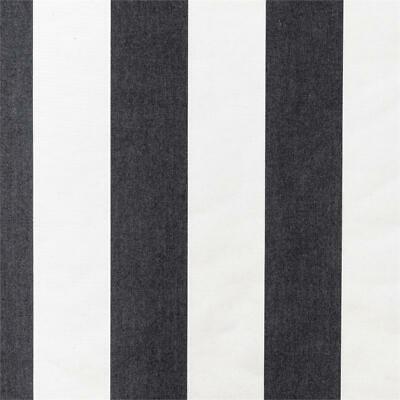 SUNBRELLA FABRIC CANVAS STRIPE  BLACK & white  OUTDOOR FABRIC BY THE YARD 54